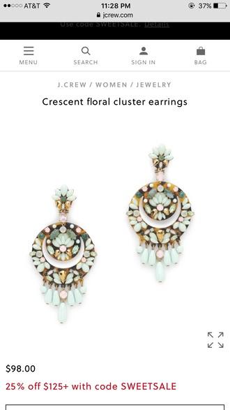 jewels jewelry earrings j crew j. crew floral cluster pendant crescent earrings need  statement earrings