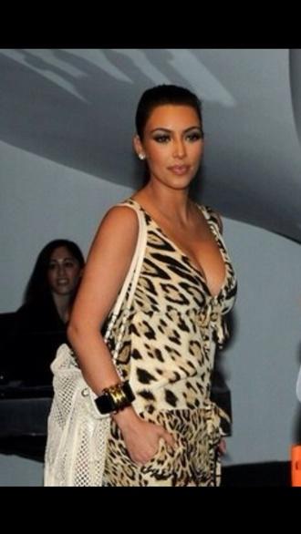 dress leopard print cheetah print kim kardashian pretty sexy gorgeous hot romper