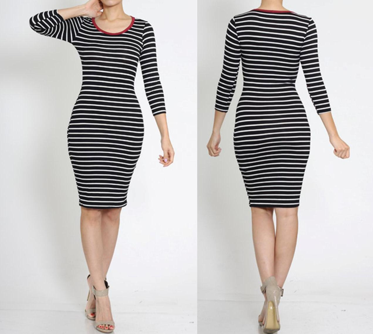 Striped bodycon dress · trendyish · online store powered by storenvy