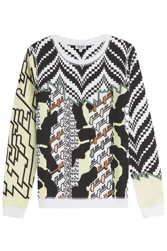 sweatshirt embroidered cotton print multicolor sweater