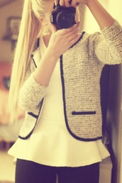 jacket,tweed classy jacket cardigan tan