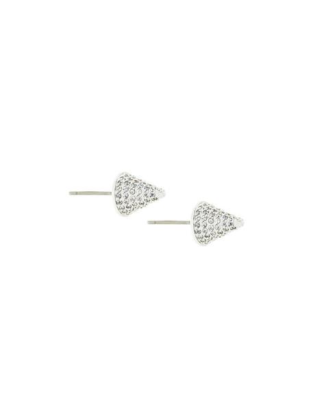 Eddie Borgo women earrings stud earrings grey metallic jewels