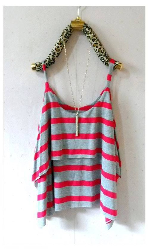 blouse nice stripes tropical summer