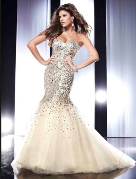 sequin dress slim mermaid prom dresses wedding dress beaded dress evening gown formal dresses party dress