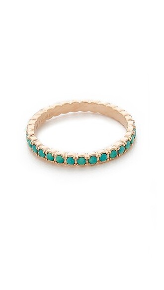 rose gold rose ring gold turquoise jewels