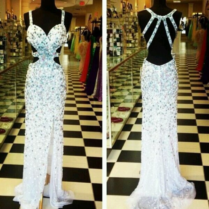 Aliexpress.com : buy wonderful customized long crystals beaded prom dresses 2014 strappy back fashion party gowns for girls from reliable dress demetrios suppliers on suzhou babyonlinedress co.,ltd
