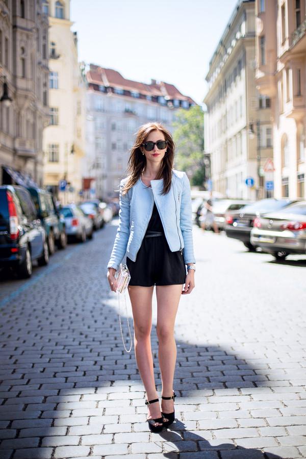 vogue haus romper jacket shoes bag sunglasses jewels