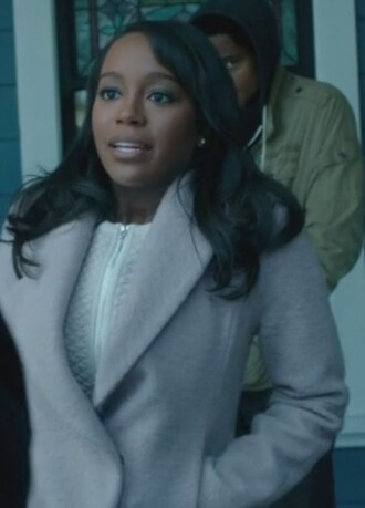 dress quilted lace coat aja naomi king how to get away with murder michaela pratt