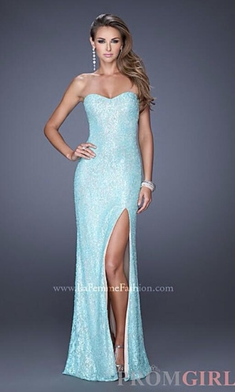 dress blue ice mint long slit shiny sparkle frozen prom dress gown ice blue ong