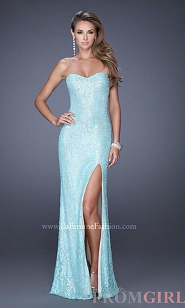 dress, blue, ice, mint, long, slit, shiny, sparkle, frozen, prom ...