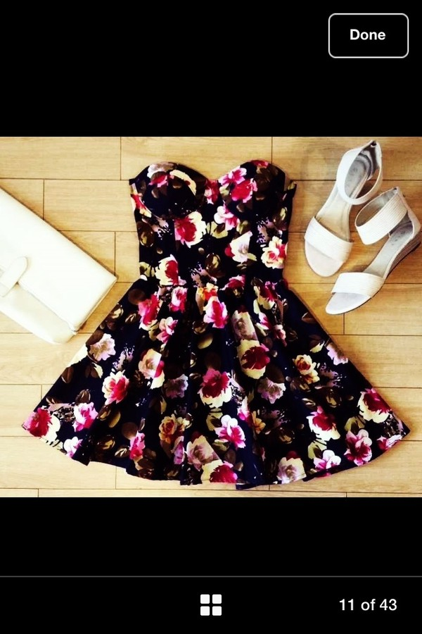 dress floral floral bustier floral bustier dress summer dress bustier dress shoes
