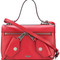 Moschino - pocket detail shoulder bag - women - leather - one size, red, leather