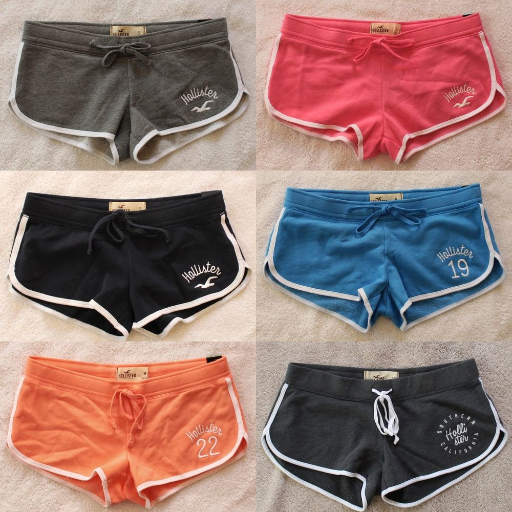 c2b51a25087df0 NEW Hollister Women Athletic Lounge Sweat Shorts Curved Hem Casual  Abercrombie