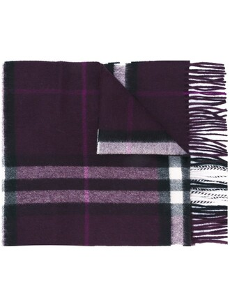 plaid scarf purple pink