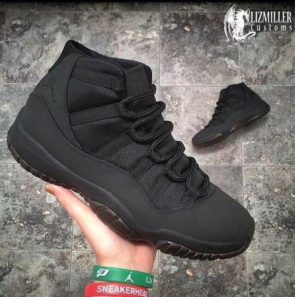 shoes jordans black sneakers high top sneakers
