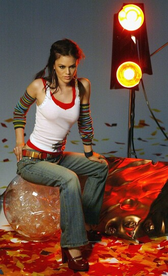 top denim jeans rachel bilson shoes belt