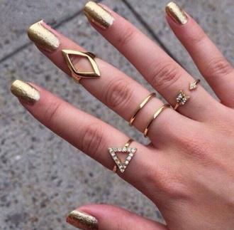 jewels nail varnish ring gold rings gold jewels nail polish