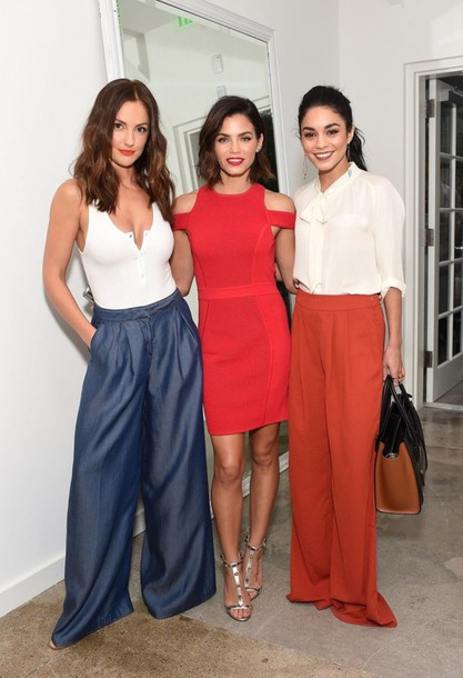 befeaddb3471 dress red dress pants wide-leg pants jenna dewan vanessa hudgens blouse  minka kelly