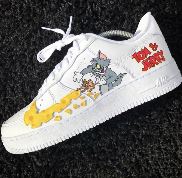 césped Haz un esfuerzo antiguo  shoes, nike air force 1, tom & jerry, tom and jerry, nike, nike ...