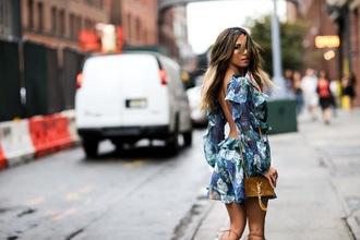 dress floral dress blue dress backless backless dress