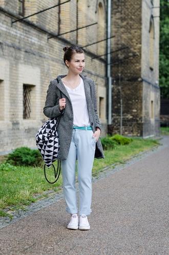 kapuczina blogger pants jewels shoes belt t-shirt coat