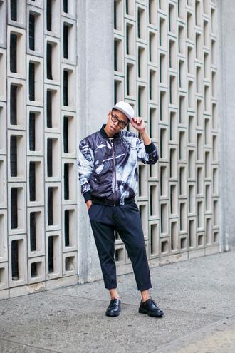 closet freaks blogger hipster menswear printed jacket mens pants mens bomber jacket mens chino pants