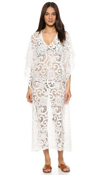cover up lace white swimwear