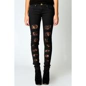 jeans,lace,ripped jeans,black jeans,cute,denim,black ripped jeans,black