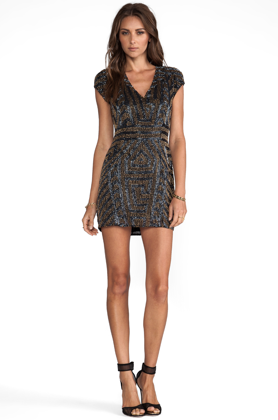 Parker Serena Sequin Dress en Noir | REVOLVE