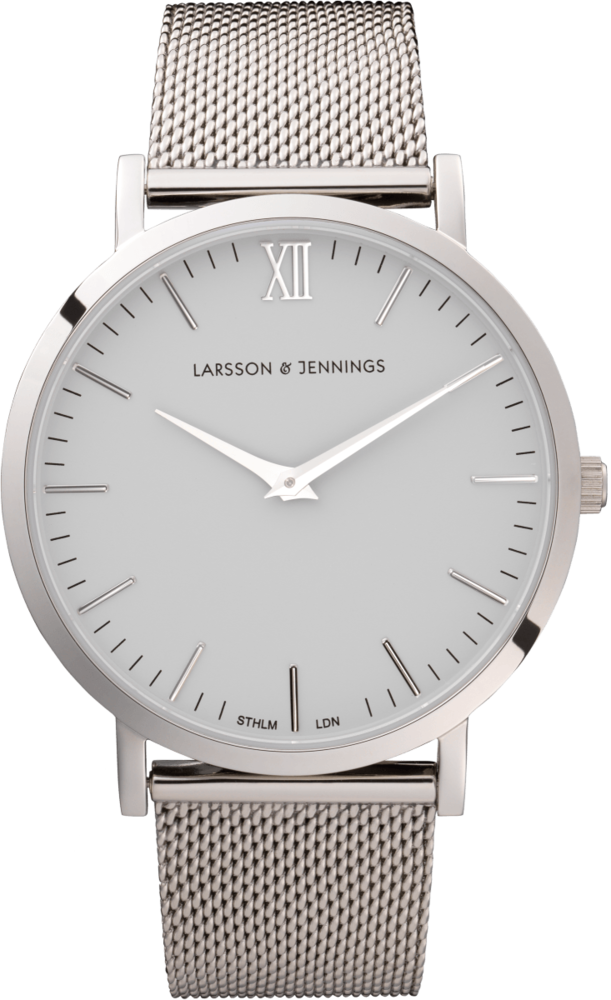 chain metal silver swiss made watches larsson