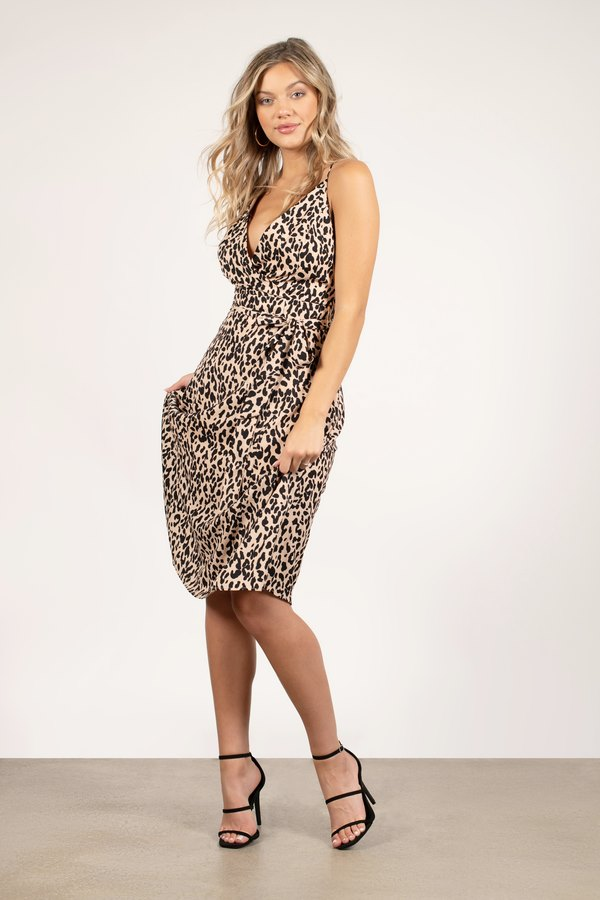 Lizzie Multi Leopard Print Midi Dress