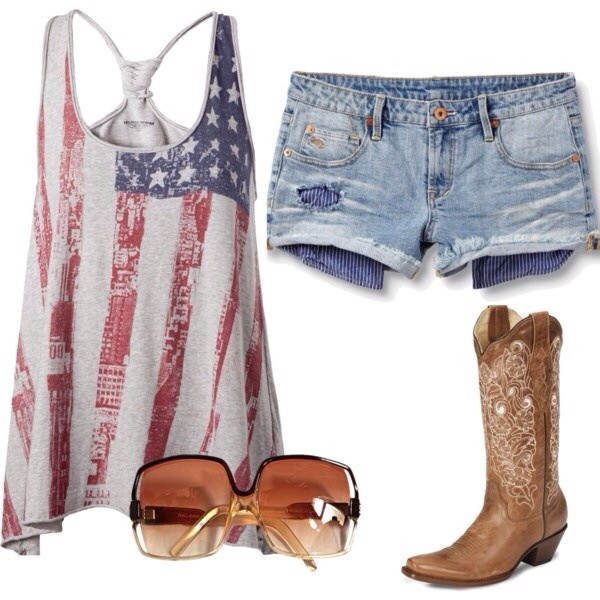 tank top american flag shirt