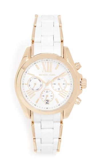 watch gold white jewels