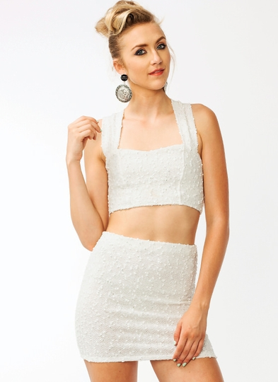 Sparkly-Boucle-Cropped-Top IVORY - GoJane.com