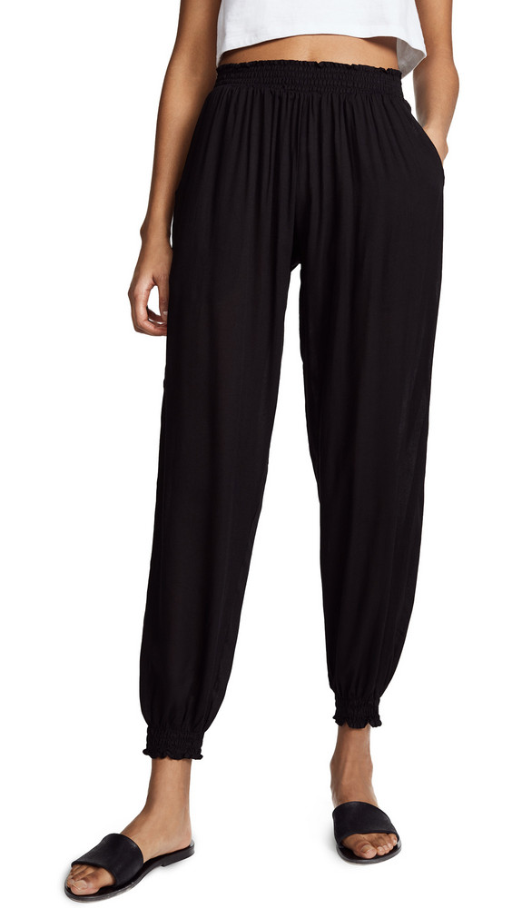 coolchange Solid Bodrum Pants in black