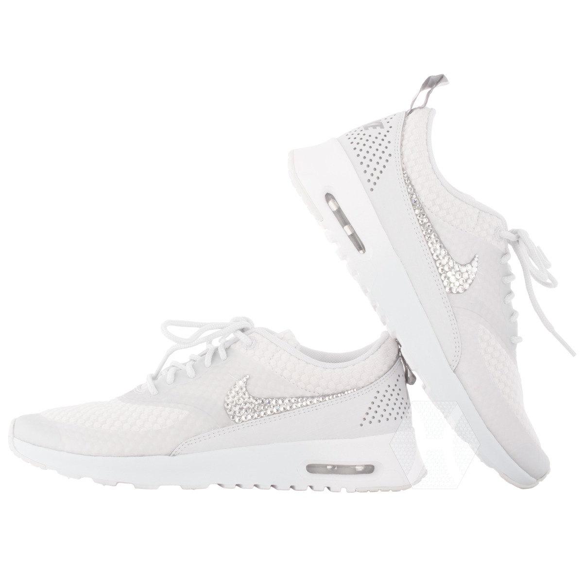 Women's Nike Air Max Thea White + Silver Sneakers NWT
