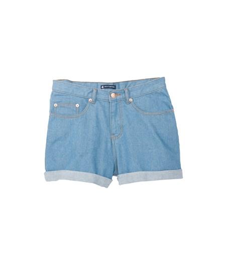 Short femme 5 poches en denim bleu Jean - Petit Bateau