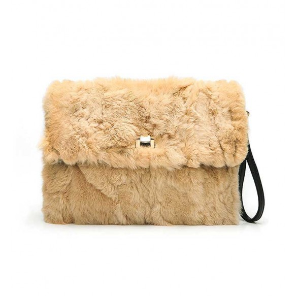 Rabbit Fur Cluth With Removable Straps at Style Moi