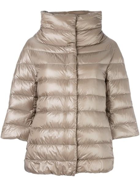Herno jacket women nude cotton