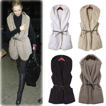 2015 new women sleeveless down jacket vest famous waistcoat winter jacket vest with belt free shipping