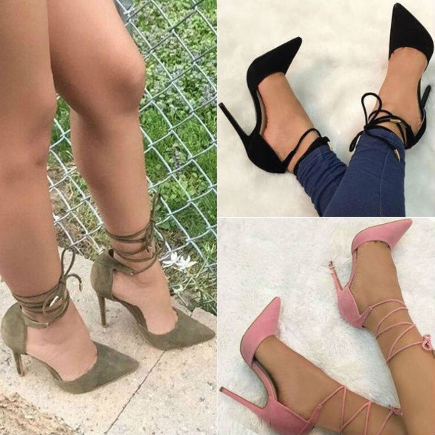 shoes high heel sandals strappy heels