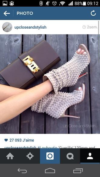 shoes peep toe boots christian louboutin