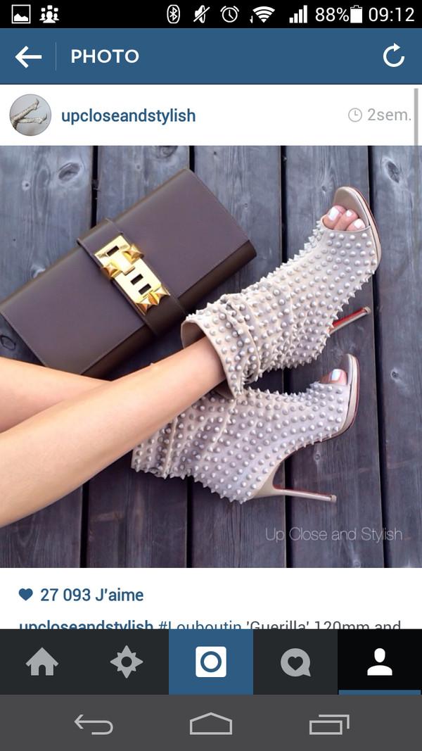 shoes peep toe boots louboutin