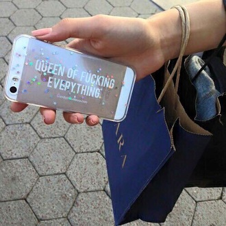 phone cover queen sparks everything gold transparant