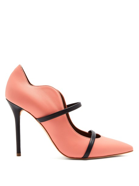 MALONE SOULIERS pumps leather navy pink shoes