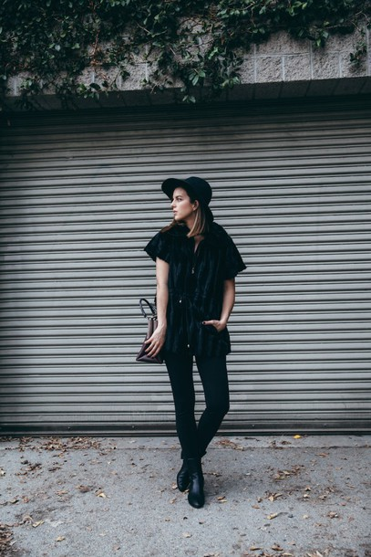 take aim blogger jacket jeans bag shoes hat