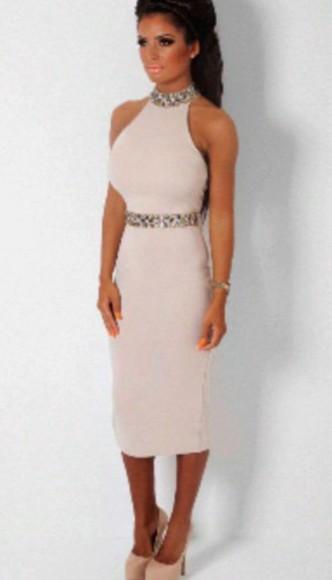 creme dress beige dress creme chic glamgerous elegant