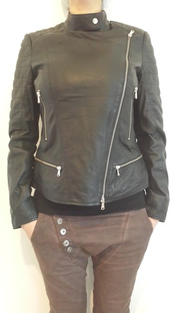 jacket given.dk given interteam leather collection black jacket mocca color sparkling jacket danish danish fashion tough life biker jacket style soo trill trendy trendy trendy