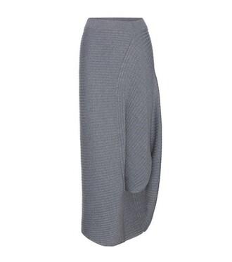 skirt asymmetrical wool grey