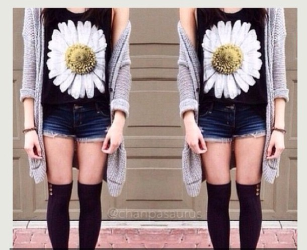 Tank Top Cute Shirt Pretty Shirt Pretty Outfits Daisy Cute Cute Outfits Tumblr Fashion